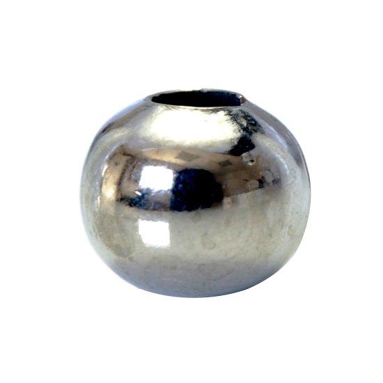 5 x Edelstahl Perlen Silber 8x6,5mm