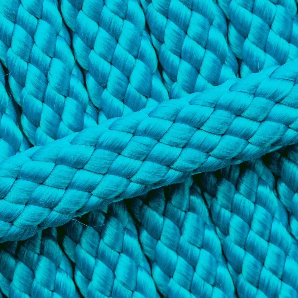 Ocean Blue PPM Cord - Ø 12mm. (plat/zonder kern)