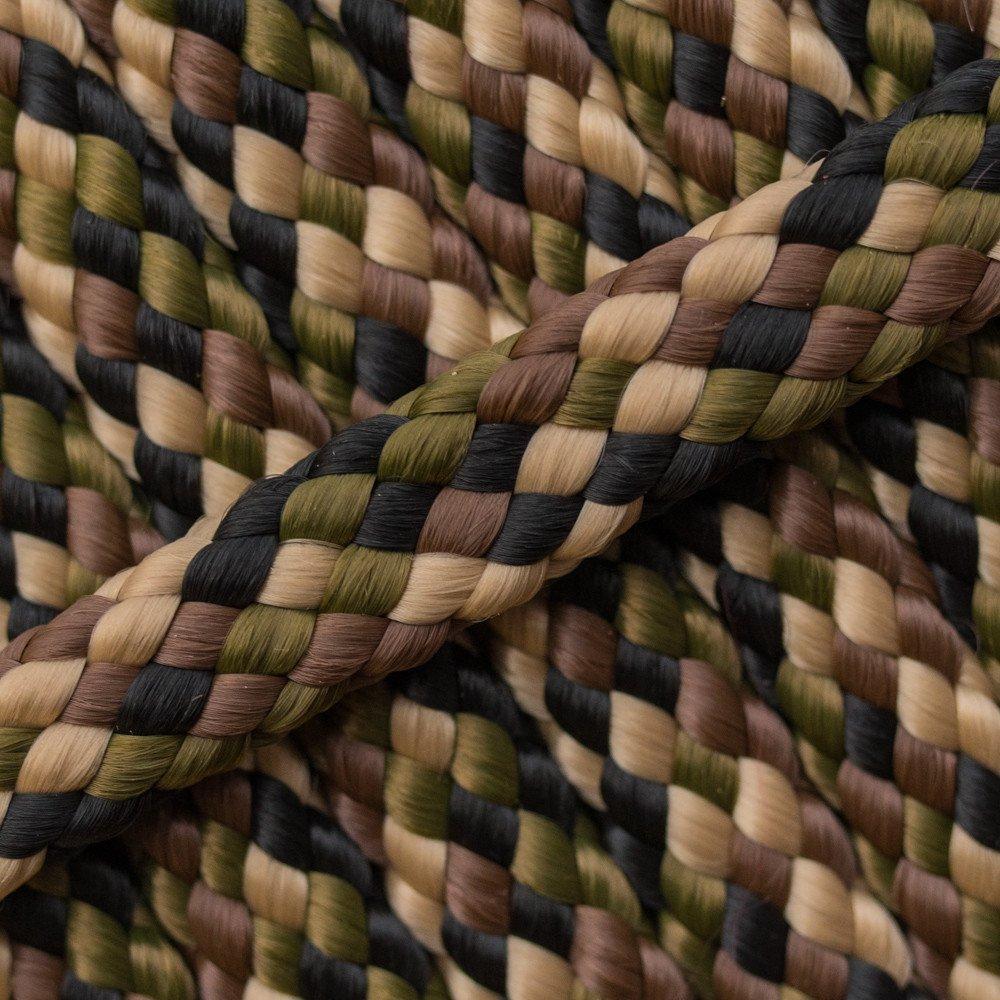 Camouflage PPM touw - Ø 8mm. (plat/zonder kern)