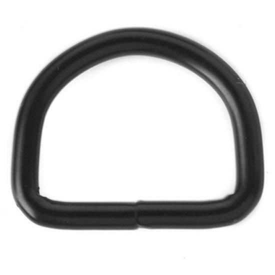 D-ring Zwart 26 x 4 mm.