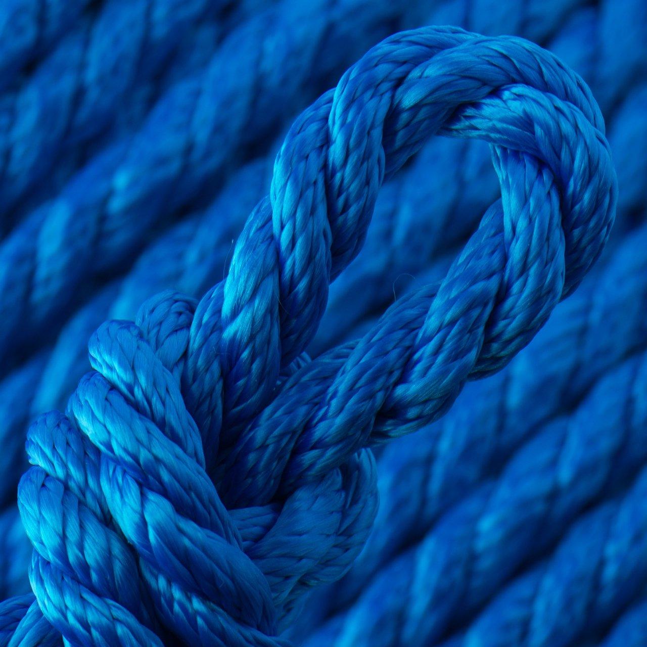 Blauw PPM Geslagen Touw - Ø 8 mm