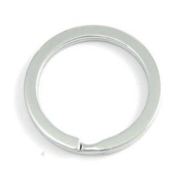 Sleutel/split ring Ø 25 x 2.4 mm. Plat