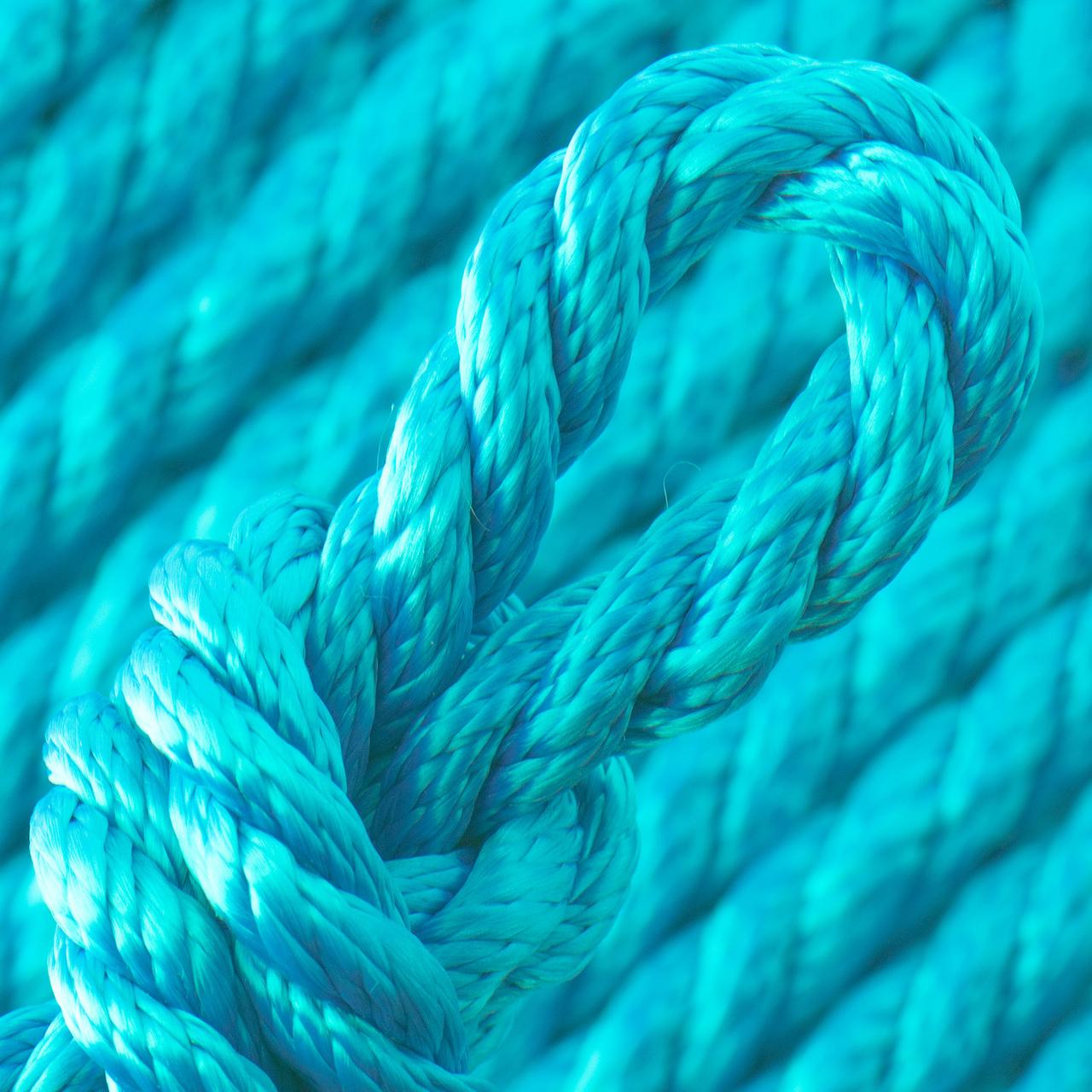 Turquoise PPM Geslagen Touw - Ø 8 mm