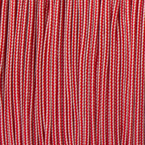 Imperial Red & Silver Grey Stripes Paracord Type I