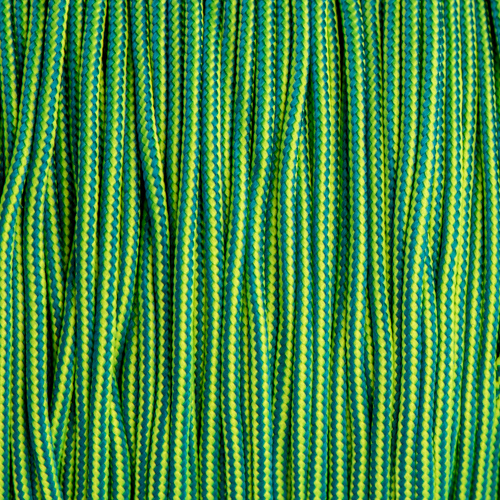 Caribbean & Neon Yellow Stripes Paracord Type I