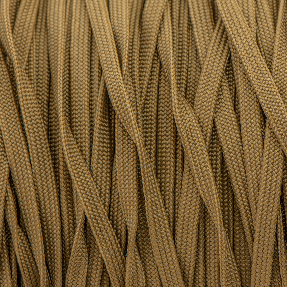 Brown Gold Paracord 650 Coreless.